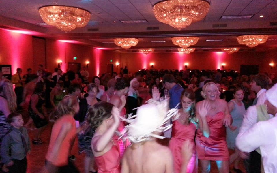Coral Up-Lighting Wedding